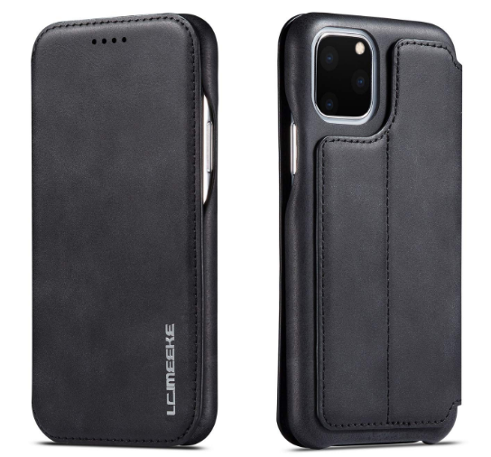 Techstudio iPhone 11 Pro Max 6.5 Leather Flip Cover Wallet Magnetic Kickstand Snug Cover for iPhone 11 Pro Max Black: Best iPhone 11 Pro Max Cover