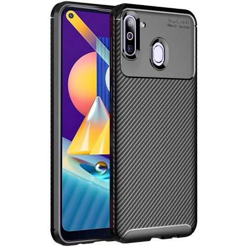 TheGiftKart Rugged Carbon Fibre Armor Back Cover Case: best protective cover for samsung m11