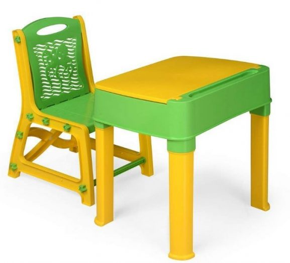 TruGood Kid's Learning Study Table and Chair Set (Multicolour): Best Study Table For Kids In India
