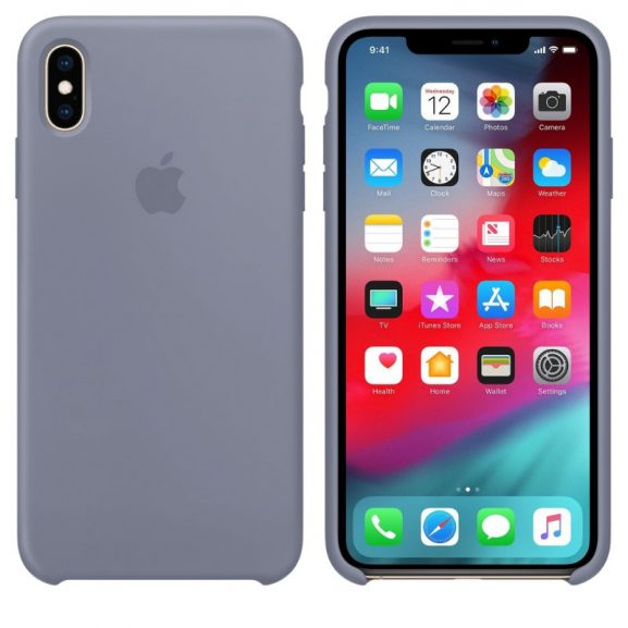 iPhone XS Silicone Case Lavender Gray Color