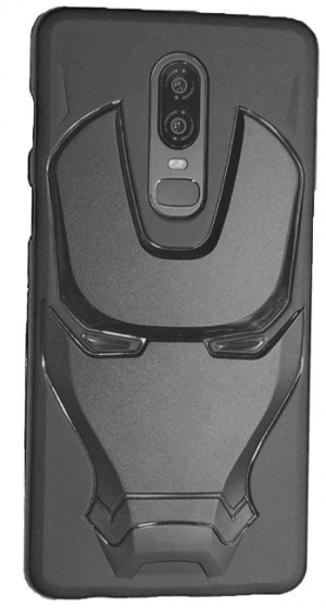 Addindia 3D Silicone Cover: Oneplus 6 Back Cover