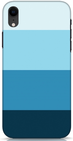 Blue Ombre Stripes Mobile Cover: iPhone Xr Cover