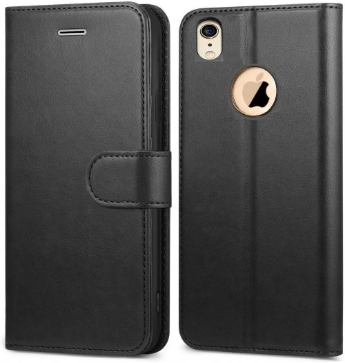 COVERNEW Vintage Leather Case - Venom Black: iPhone Xr Cover