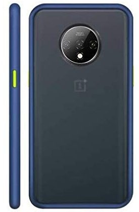 COVERS WALE Frosted Oneplus 7T Back Cover Frosted Case Anti Slip Grip and Camera Protection Back Cover for 1+7T (Blue): Best OnePlus 7T Cover