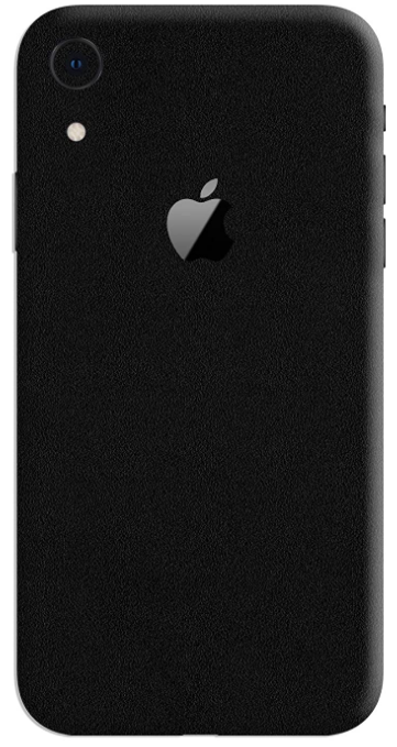 Gadgets Wrap Black Matte Skin (Back & Sides): iPhone Xr Cover