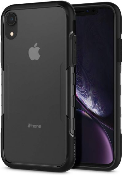 Spigen Lux Hybrid Back Case - Frost Black: iPhone Xr Cover