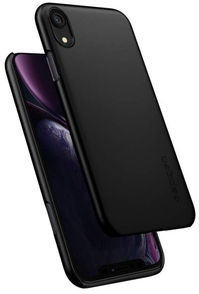Spigen Thin Fit Back Cover Case - Black: iPhone Xr Cover
