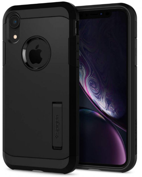 Spigen Tough Armor Back Cover - Black: iPhone Xr Cover