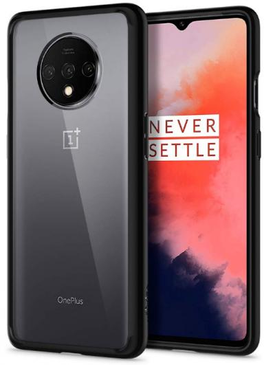 Spigen Ultra Hybrid Back Cover Case Designed for OnePlus 7T - Matte Black: Best OnePlus 7T Cover