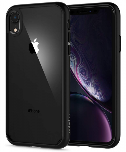 Spigen Ultra Hybrid Back Cover - Matte Black: iPhone Xr Cover