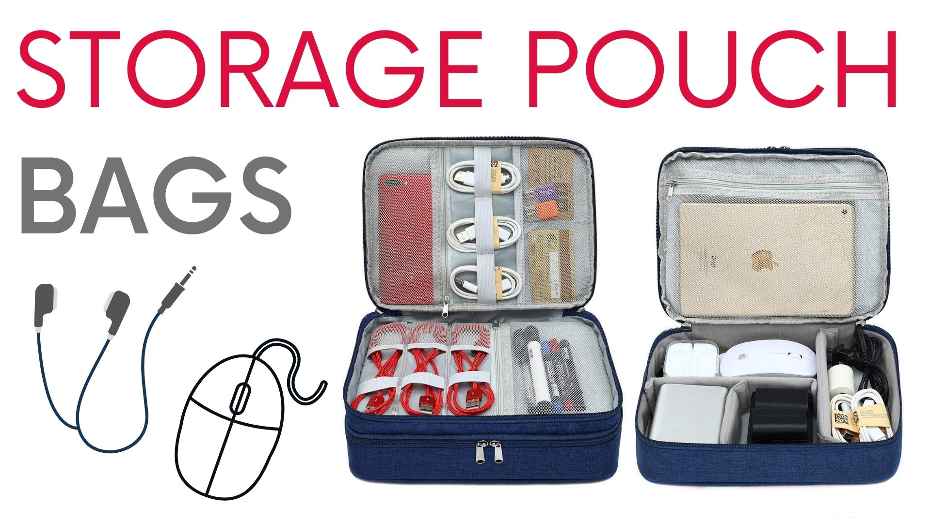 Storage Pouch Bags for accessories