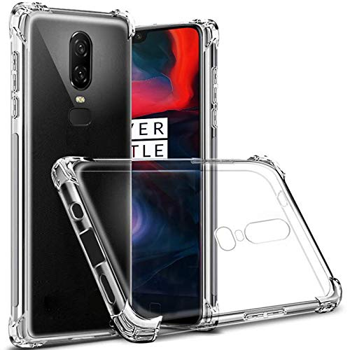 Tarkan ShockProof Clear Cover: Oneplus 6 Back Cover