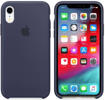 WOOZY Back Cover  (Blue, Silicon): iPhone Xr Cover