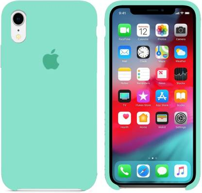 WOOZY Back Cover (Green, Silicon): iPhone Xr Cover