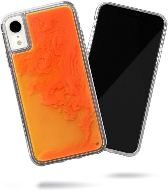 iPhone XR Neon Sand Glow In Dark Premium Case (Orange Soda)