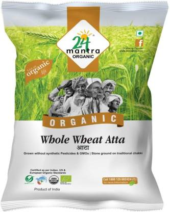 24 Mantra Organic Whole Wheat Atta: Atta Brand