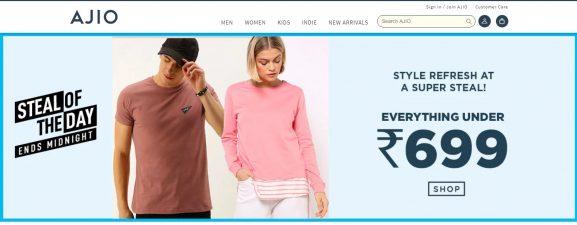 Ajio.com: E-Commerce Website