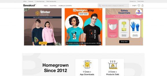 Bewakoof: Site Like Bewakoof.com