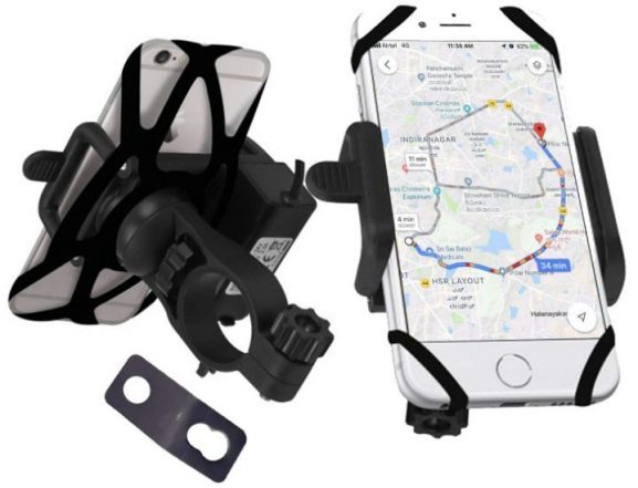 Black Cat Mobile Holder: Mobile Holder for Bike