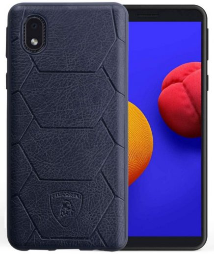 CareFone Leather Back Cover: Samsung M01 Core Cover
