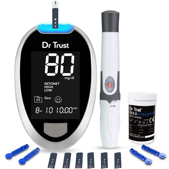 Dr TrustFully Blood Sugar Testing Glucometer Machine: Blood Pressure Monitor