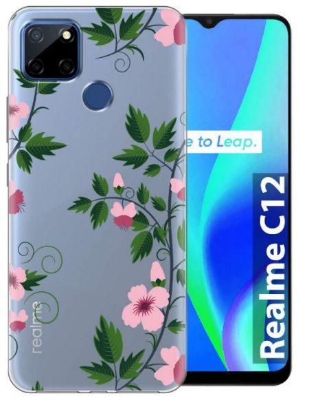 Fashionury Shockproof Printed Back Cover: Realme C12 Case