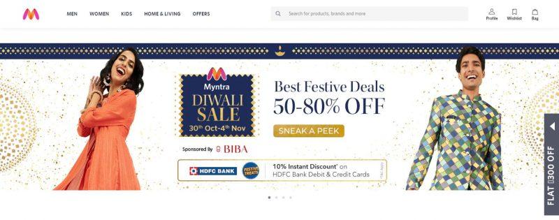 Myntra.com: E-Commerce Website