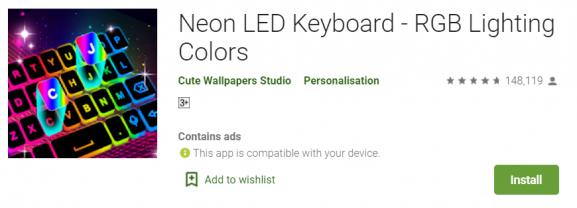 Neon LED Keyboard - best keyboard app