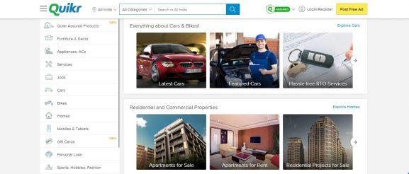 Quikr.com: E-Commerce Website