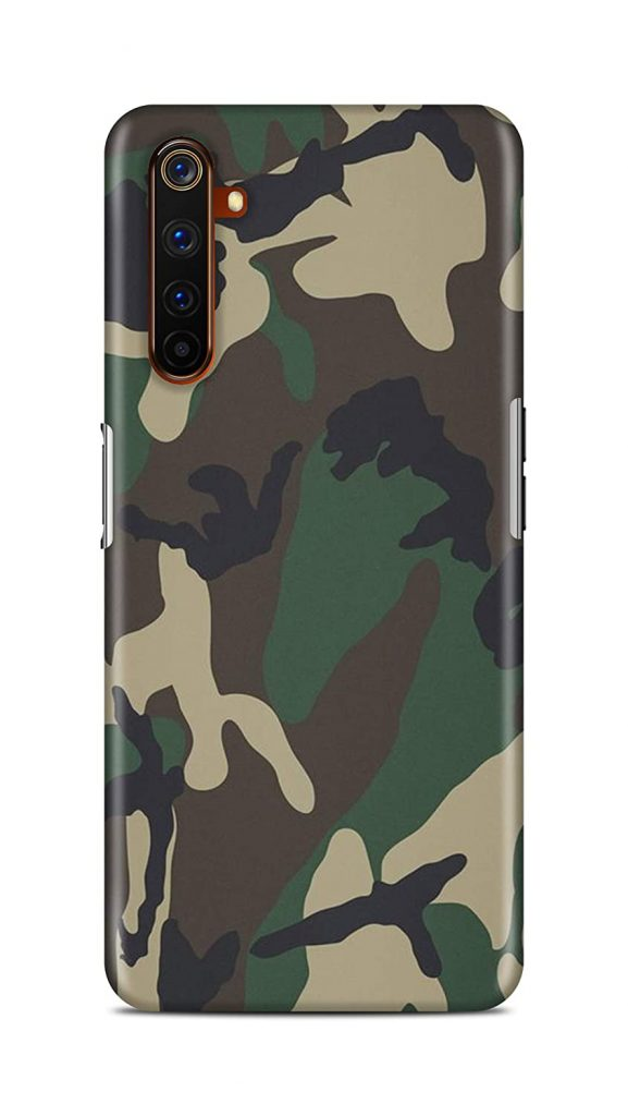 Shengshou Mobile Back Cover for Realme 6 Pro (Army Look)