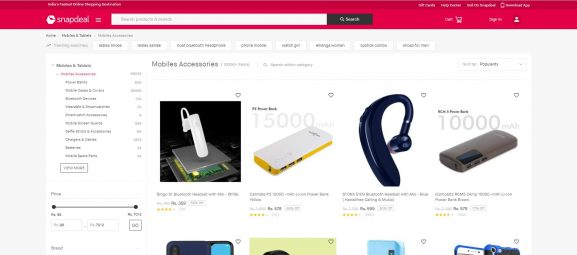 Snapdeal Mobile Accessories