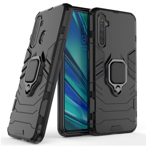 Spazy Case Realme 6 / Realme 6i Case Back Cover Dual Layer Armor Defender Full Body Protective + PC Hybrid Kickstand Back Case Cover for Realme 6 / Realme 6i