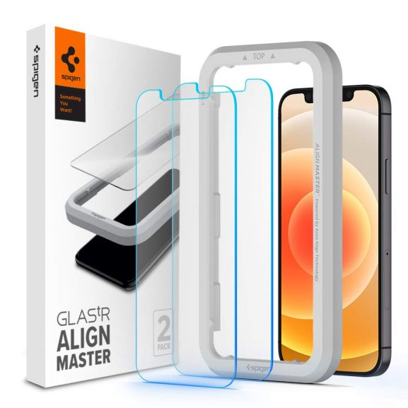 Spigen 2 Pack Tempered Glass Screen Protector for iPhone 12