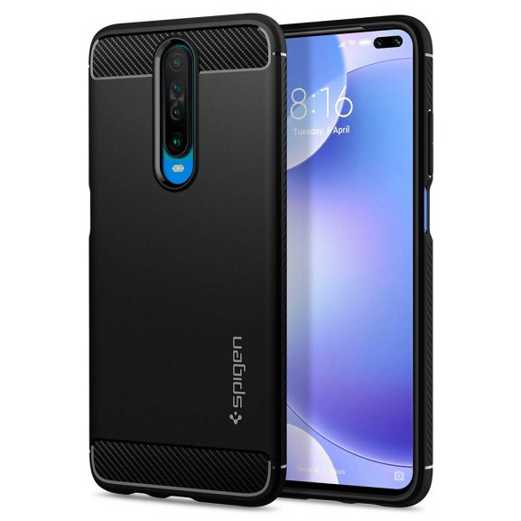 Spigen Rugged Armor Back Cover Case: Back Case for Redmi Poco X2