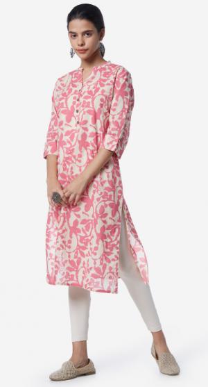 Utsa by Westside Blush Pink Kurta: Kurti Under 1000 Rupees