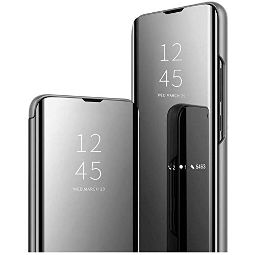 Vivo X50 Pro Flip Cover | Clear View Standing Cover | Flip Cover (Black)
