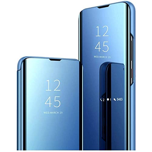Vivo X50 Pro Flip Cover | Clear View Standing Cover | Flip Cover (Blue)