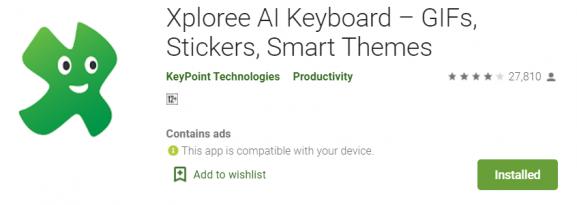 Xploree AI Keyboard - best keyboard app