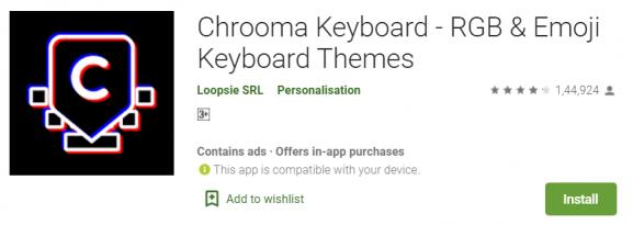 chrooma - Best keyboard app
