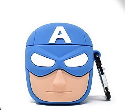 A.S.PLATINUM 3D Funny Cartoon Character Captain America Airpod Case