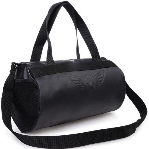 AUXTER Blacky Leatherette Gym Bag: Gift For Male Bestie