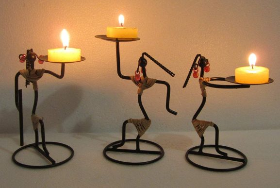 Aadit Crreation Decorative Unique Candle Holders for Home/Office (Bunda Ladies)