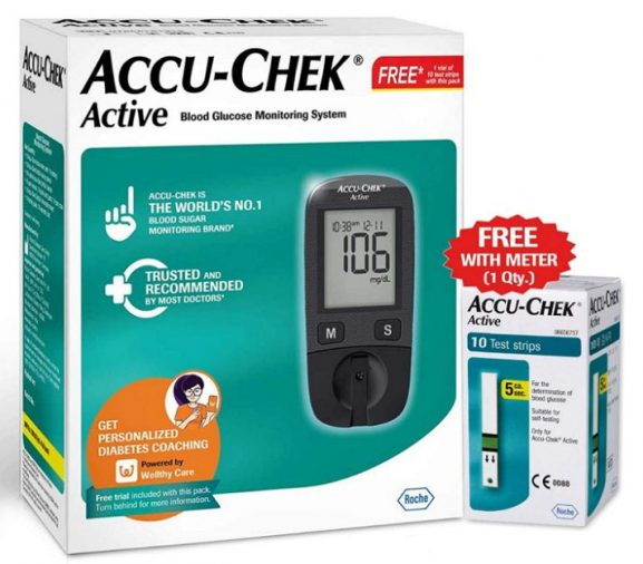 Accu-Chek Active Blood Glucose Meter Kit: Glucometer Machine