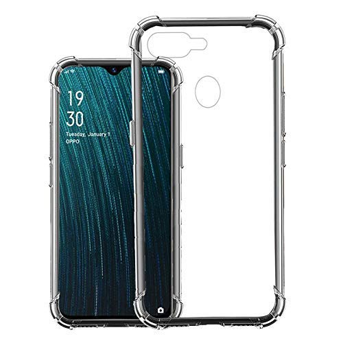 Amagav Transparent Silicone Cover: Oppo A7 Case