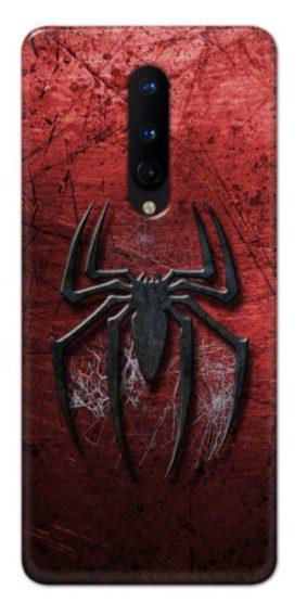 Black Spider Back cover designed for Oneplus 8.