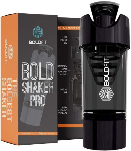 Bold fit Gym Shaker Pro 500 ml: Shaker Bottle