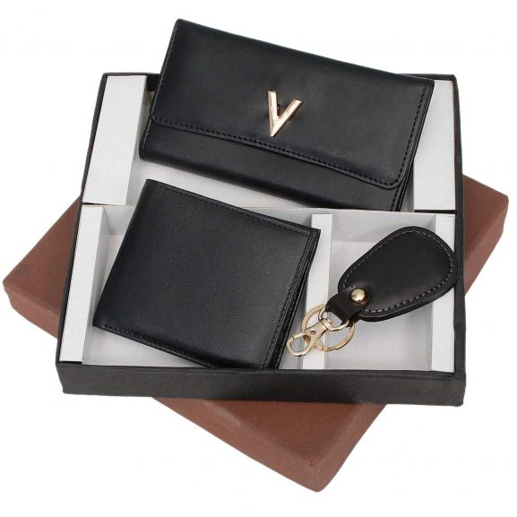 Borse Wallet and Key Chain Gifts Set Box: Marriage Anniversary Gift For Couple