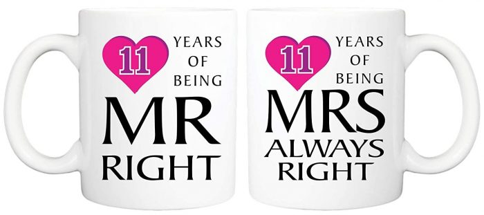 Couple Mug Set Mr. Right & Mrs. Always Right: Marriage Anniversary Gift For Couple