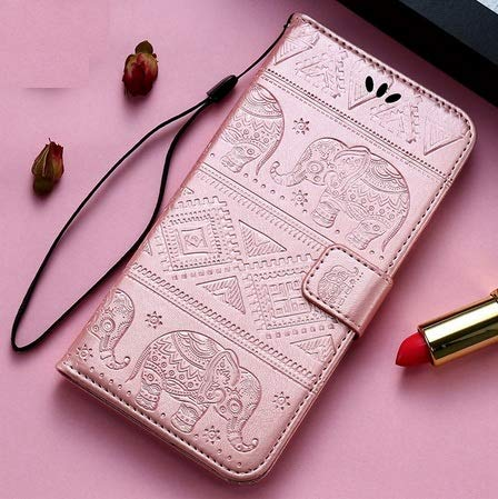 D-Kandy Diva Series Embossing Elephant Faux Leather Flip Cover designed for Oneplus 8