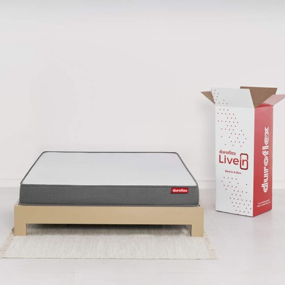 Duroflex Livein - Anti Microbial Fabric 6 Inch Double Size Memory Foam Mattress
